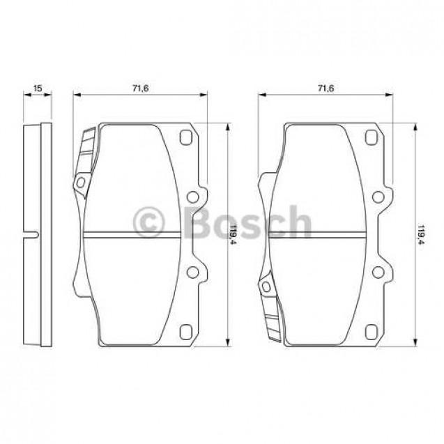 Bosch Тормозные колодки дисковые/ Toyota Land Cruiser