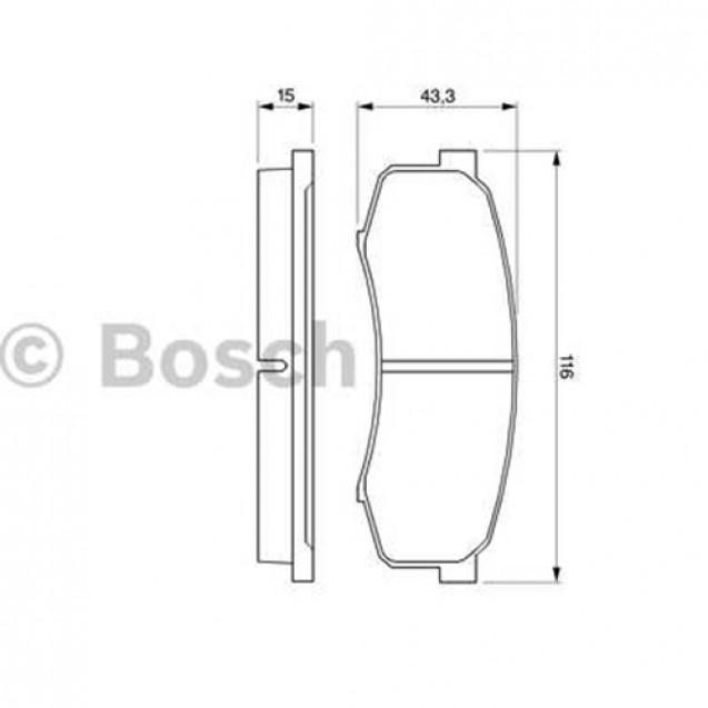 Bosch Тормозные колодки дисковые задние/ Toyota Land Cruiser