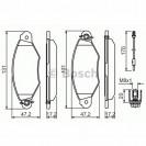 Bosch Тормозные колодки дисковые передние/ Renault Kangoo