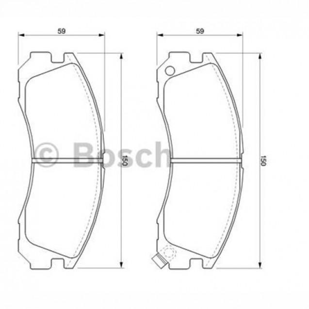 Bosch Тормозные колодки дисковые передние/ Peugeot 4007