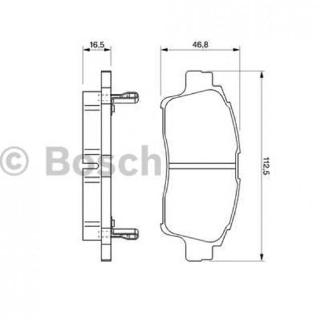 Bosch Тормозные колодки дисковые/ Toyota Yaris