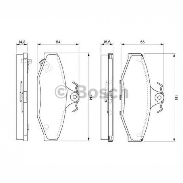 Bosch Тормозные колодки дисковые/ SSangYong Korando