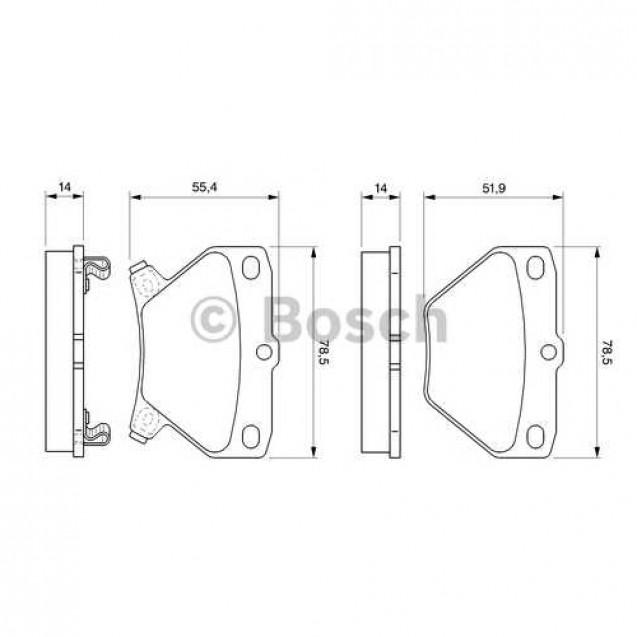 Bosch Тормозные колодки дисковые задние/ Toyota Prius