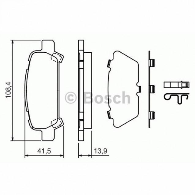 Bosch Тормозные колодки дисковые задние/ Subaru Forester