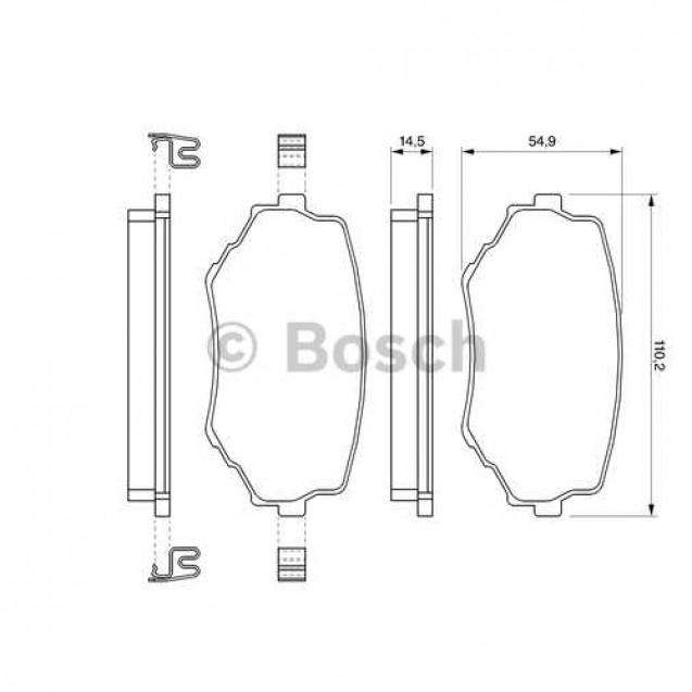 Bosch Тормозные колодки дисковые передние/ Suzuki Grand Vitara