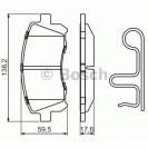 Bosch Тормозные колодки дисковые передние/ Subaru Forester