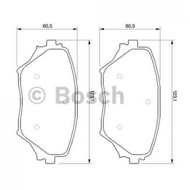 Bosch Тормозные колодки дисковые передние/ Toyota RAV4