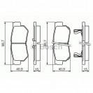 Bosch Тормозные колодки задние/ SSangYong Korando