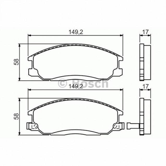 Bosch Тормозные колодки дисковые передние/ SSangYong Actyon