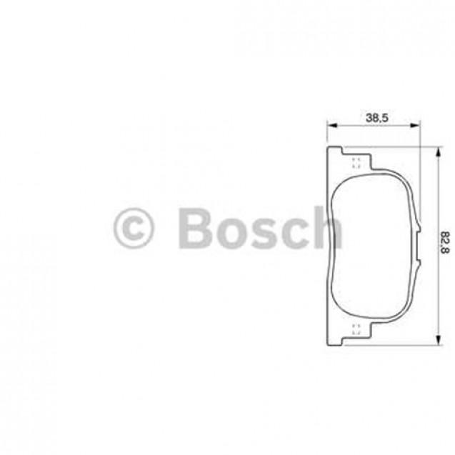 Bosch Тормозные колодки задние/ Toyota Prius
