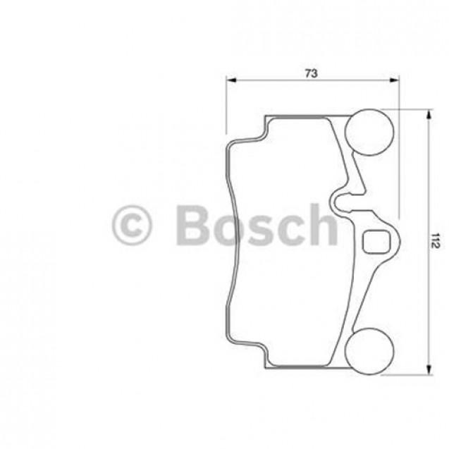 Bosch Тормозные колодки дисковые/ Porsche Cayenne