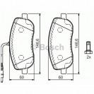 Bosch Тормозные колодки дисковые/ Peugeot 807