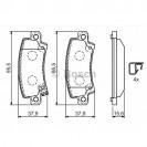 Bosch Тормозные колодки дисковые/ Toyota Corolla