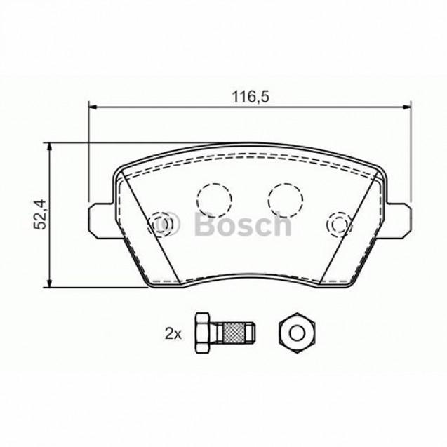 Bosch Тормозные колодки дисковые передние/ Renault Clio