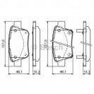Bosch Тормозные колодки дисковые задние/ Toyota Avensis