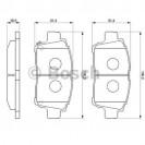 Bosch Тормозные колодки дисковые передние/ Toyota Prius