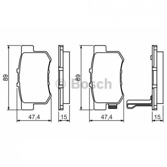 Bosch Тормозные колодки дисковые задние/ Suzuki SX4