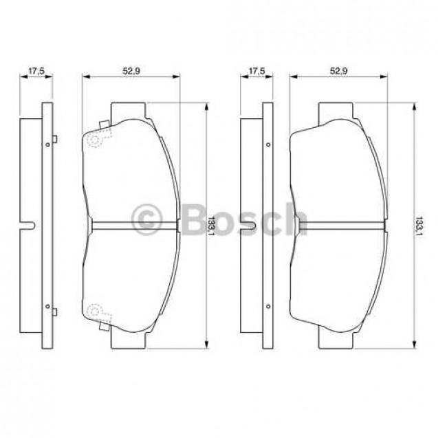 Bosch Тормозные колодки дисковые/ Toyota Camry