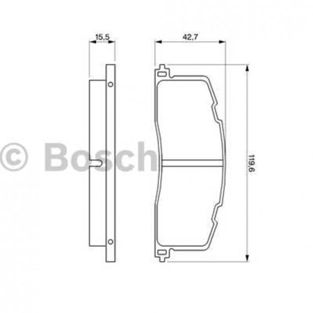 Bosch Тормозные колодки дисковые/ Toyota Previa