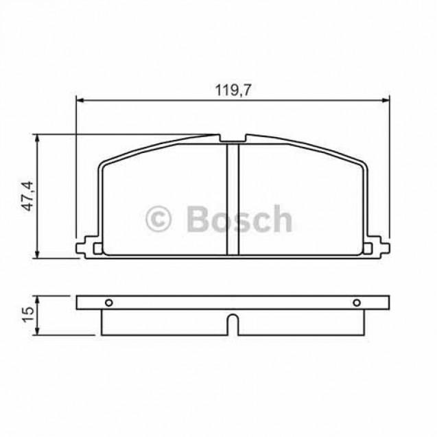Bosch Тормозные колодки дисковые/ Toyota Carina