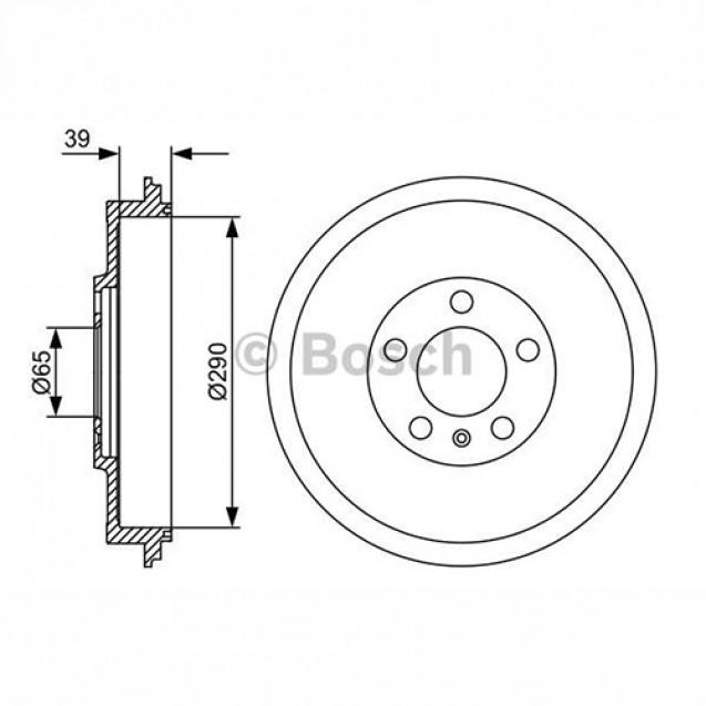 Bosch Тормозной барабан/ Skoda Octavia