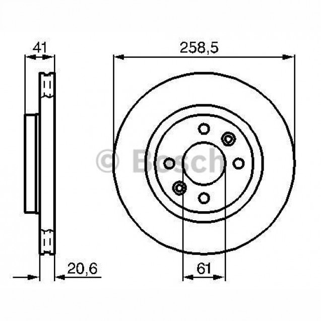 Bosch Тормозной диск передний/ Renault  Kangoo