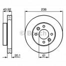 Bosch Тормозной диск/ Renault Kangoo