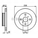 Bosch Тормозной диск/ Toyota Corolla