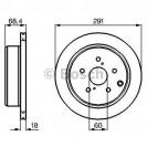 Bosch Тормозной диск/ Toyota Previa