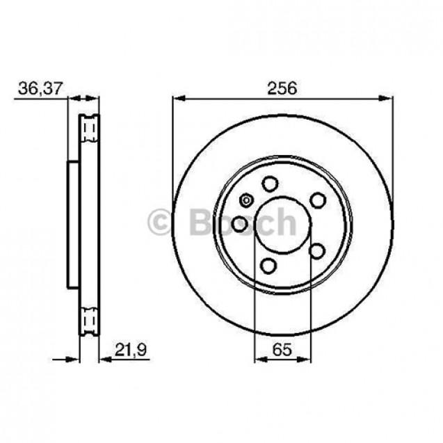 Bosch Тормозной диск задний/ Volkswagen Bora