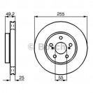 Bosch Тормозной диск/ Toyota Carina