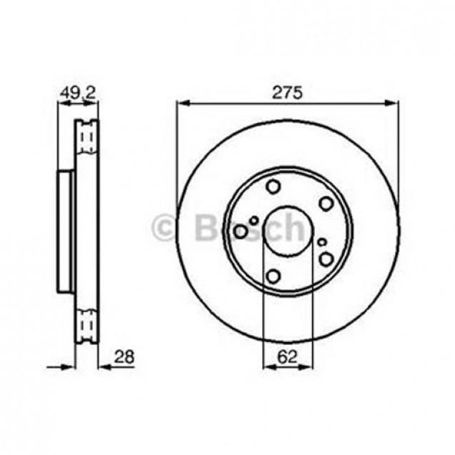 Bosch Тормозной диск передний/ Toyota Avensis Verso