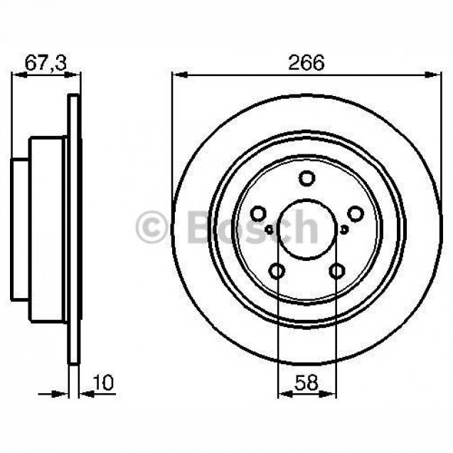 Bosch Тормозной диск задний/ Subaru Forester