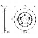 Bosch Тормозной диск/ Suzuki Grand Vitara