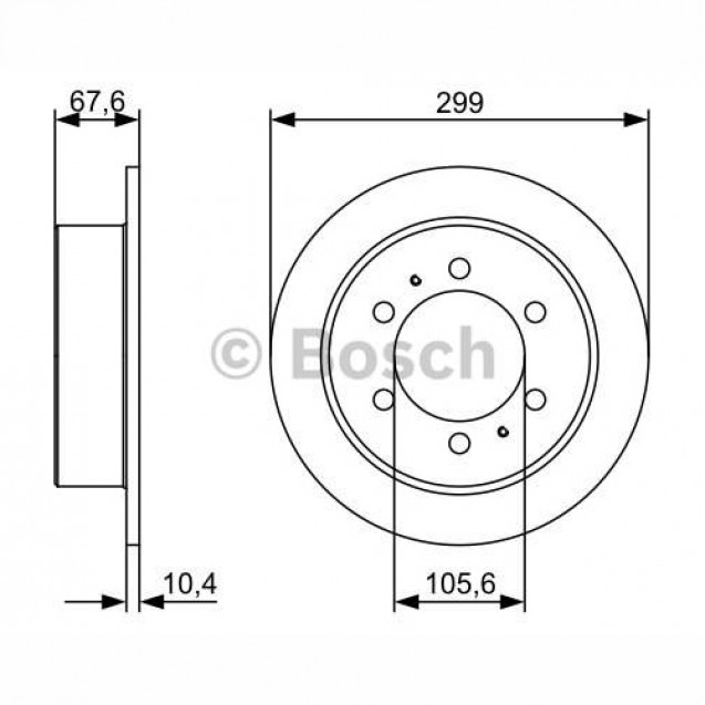 Bosch Тормозной диск/ SSangYong Korando