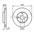 Bosch Тормозной диск/ Toyota Yaris