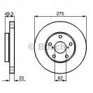 Bosch Тормозной диск передний/ Toyota RAV4
