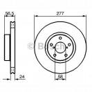 Bosch Тормозной диск передний/ Subaru Forester