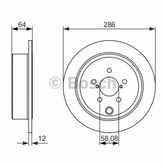 Bosch Тормозной диск/ Subaru Forester