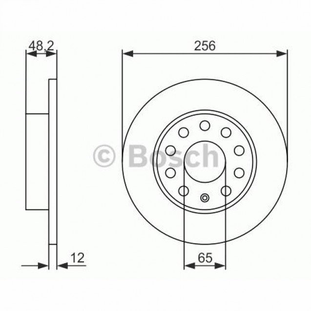Bosch Тормозной диск задний/ Skoda Octavia