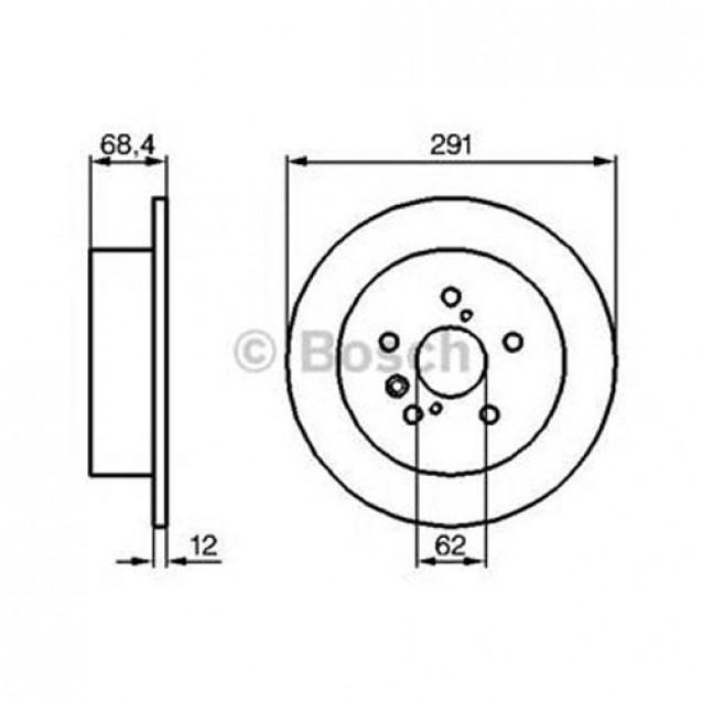 Bosch Тормозной диск/ Toyota Avensis Verso