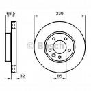 Bosch Тормозной диск передний правый/ Porsche Cayenne