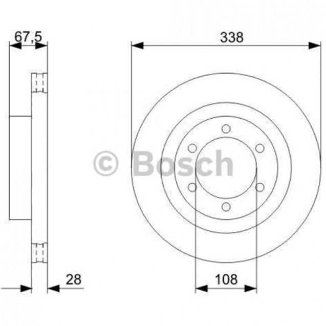 Bosch Тормозной диск передний/ Toyota Land Cruiser