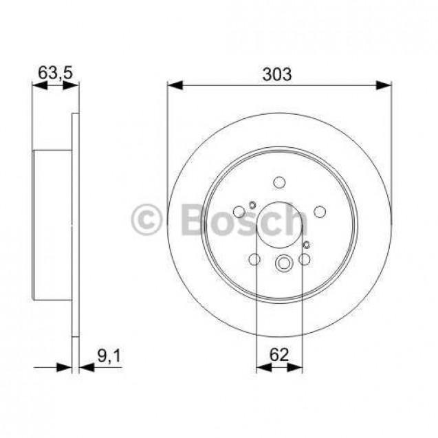 Bosch Тормозной диск/ Toyota RAV4