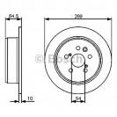 Bosch Тормозной диск/ Toyota Camry