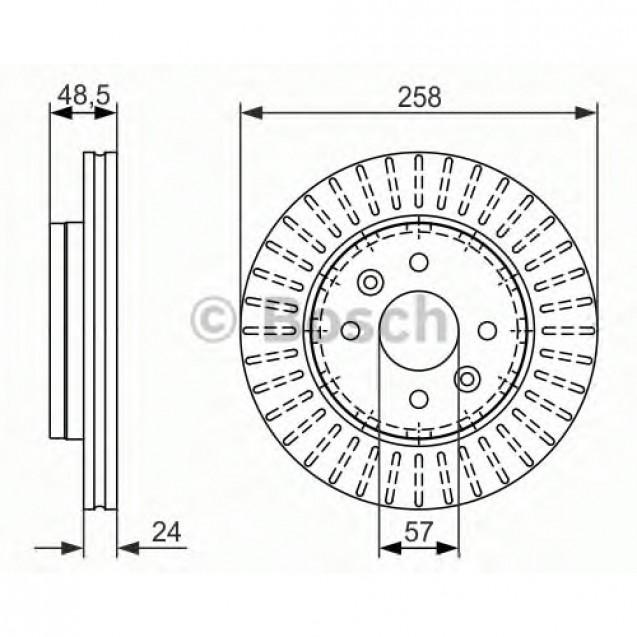 Bosch Тормозной диск/ Toyota Prius
