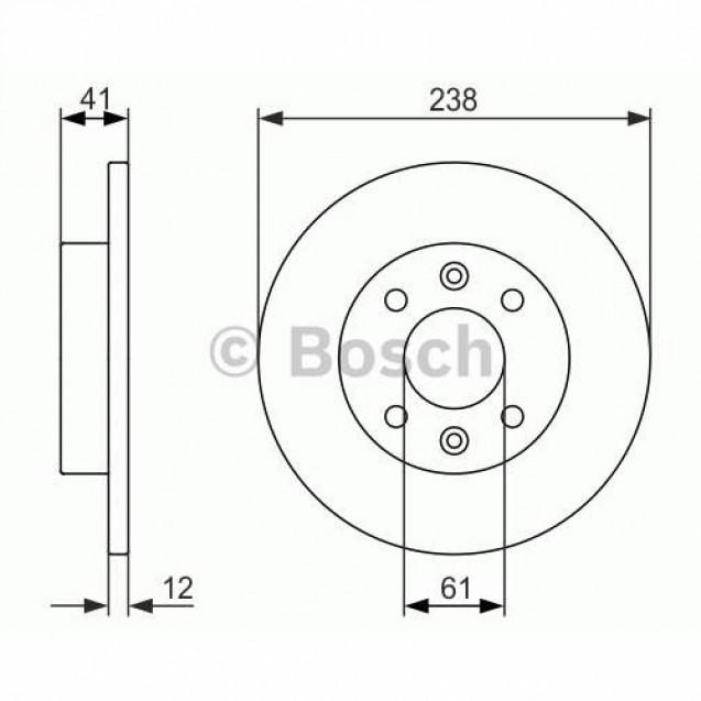 Bosch Тормозной диск передний/ Renault Rapid