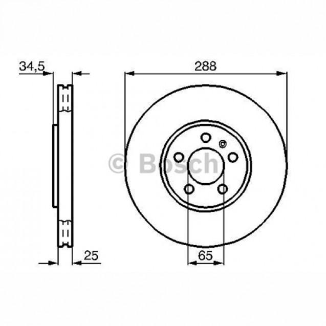 Bosch Тормозной диск/ Skoda Octavia Combi