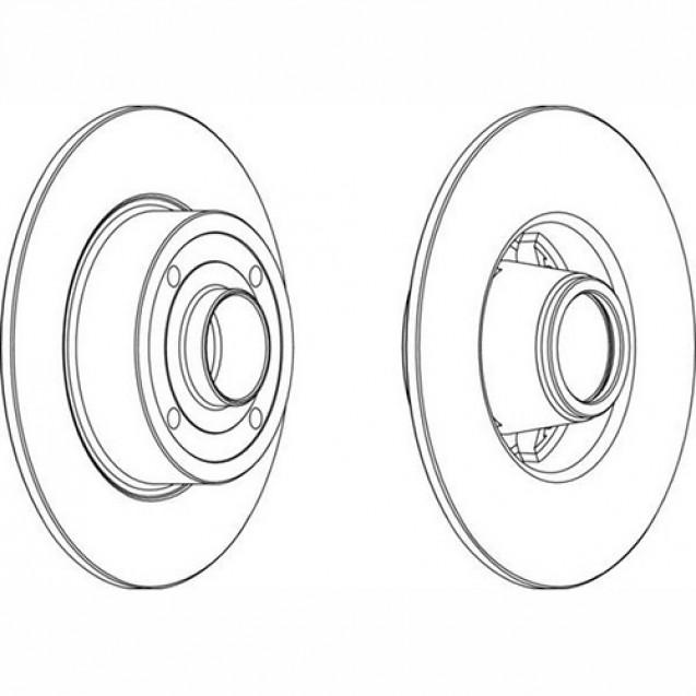 Bosch Тормозной диск задний/ Renault Clio