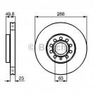 Bosch Тормозной диск/ Skoda Octavia